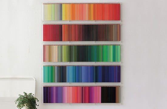Color Pencil Wall Display