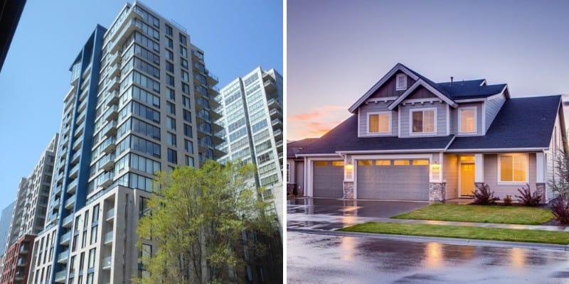 comparison of house vs condo