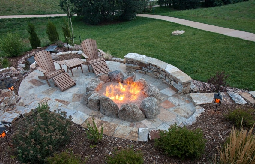 firepit outside