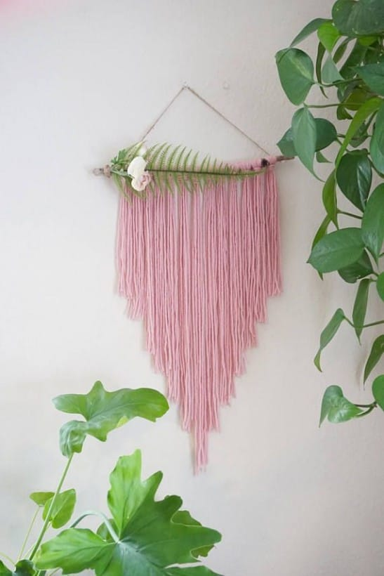 Tassels hanging from the wall