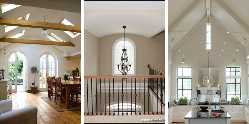 various styles of ceiling in homes