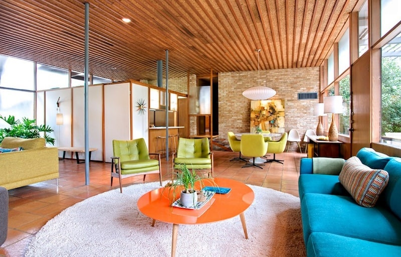 colorful mid century modern design