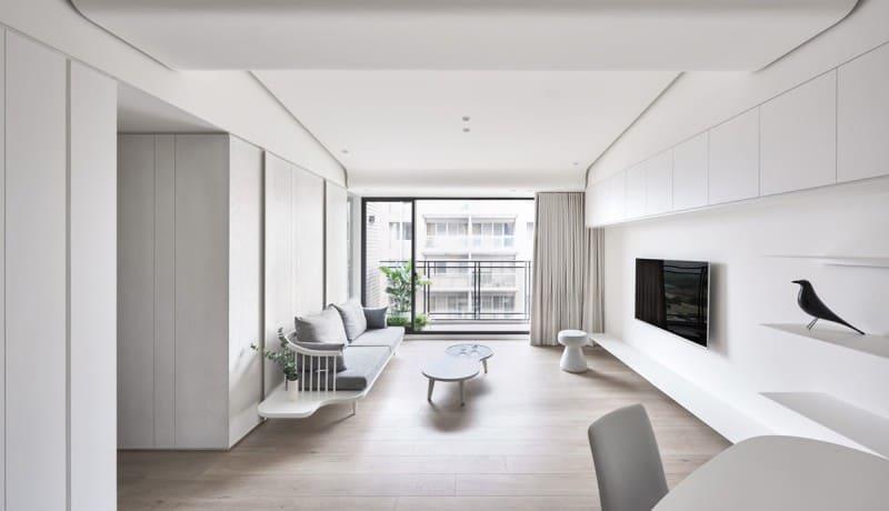 white minimal room