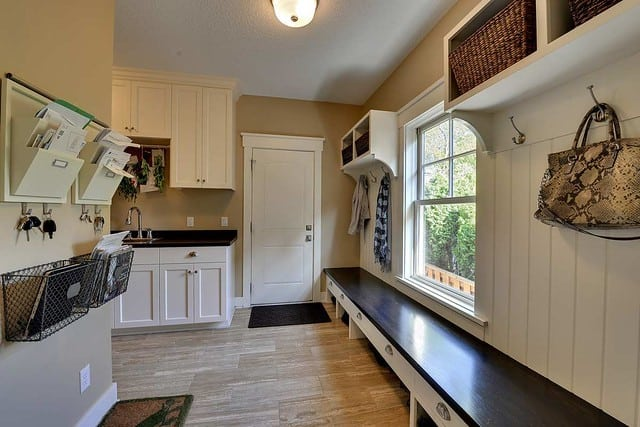 mudroom space in a house