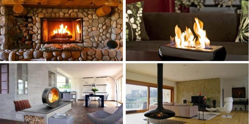 fireplace types
