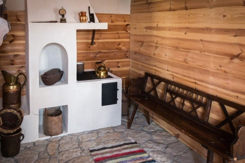 Room with Wood Planks Walls