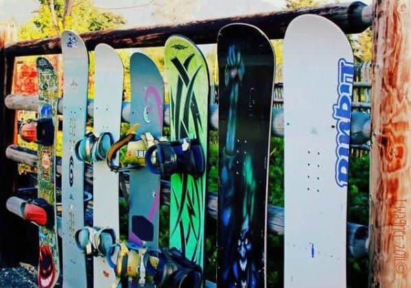 ski and snowboard fence