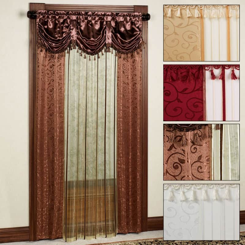 valance on curtain
