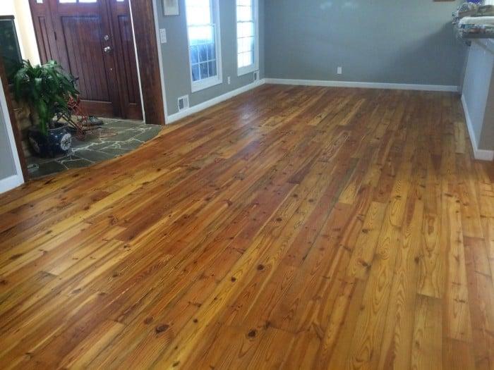 heart pine wood floor
