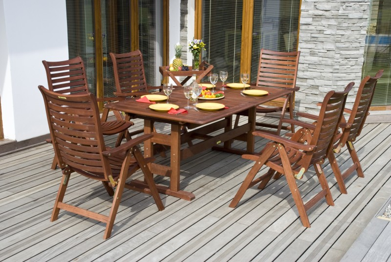 outdoors wooden furniture