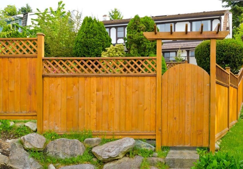 fence around house