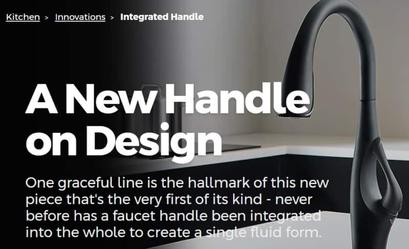 integrated pfister faucet