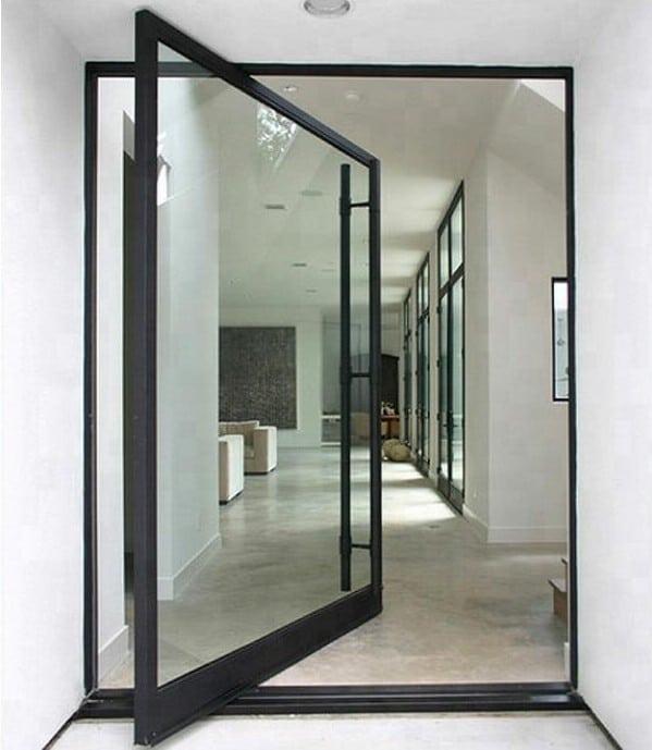 pivot door with aluminum