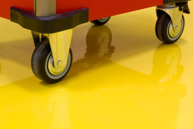 yellow epoxy floor