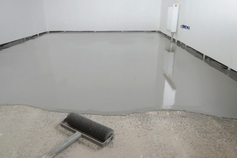 self leveling on top of concrete