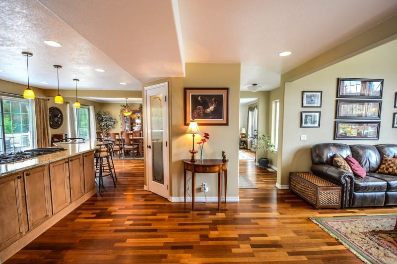 room with luxury vinyl plank flooring