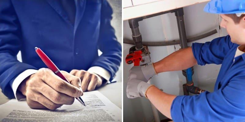 plumbing agreements