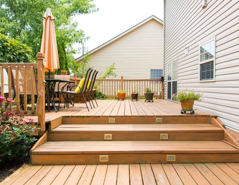 wooden deck exterior