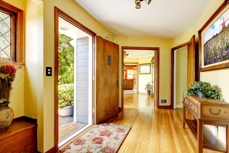 hallway in old house