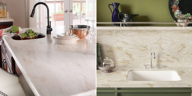 discussion of pros and cons of corian countertops