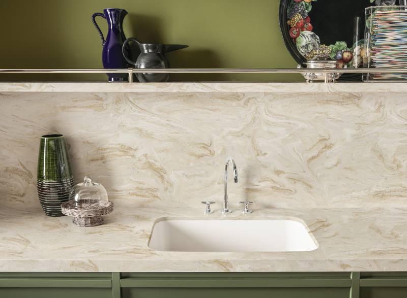 corian with kitchen sink