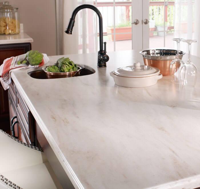 kitchen sink in corian counter