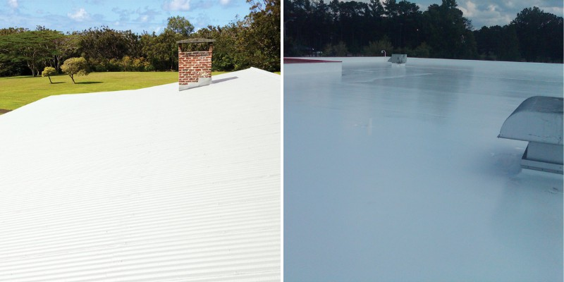 silicone coating on roofs