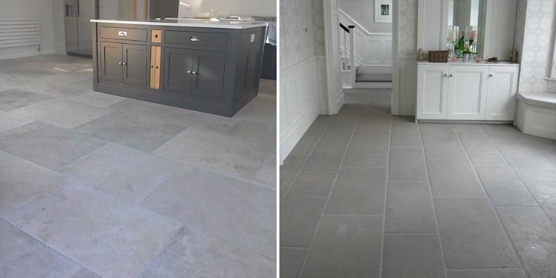 gray limestone tiles
