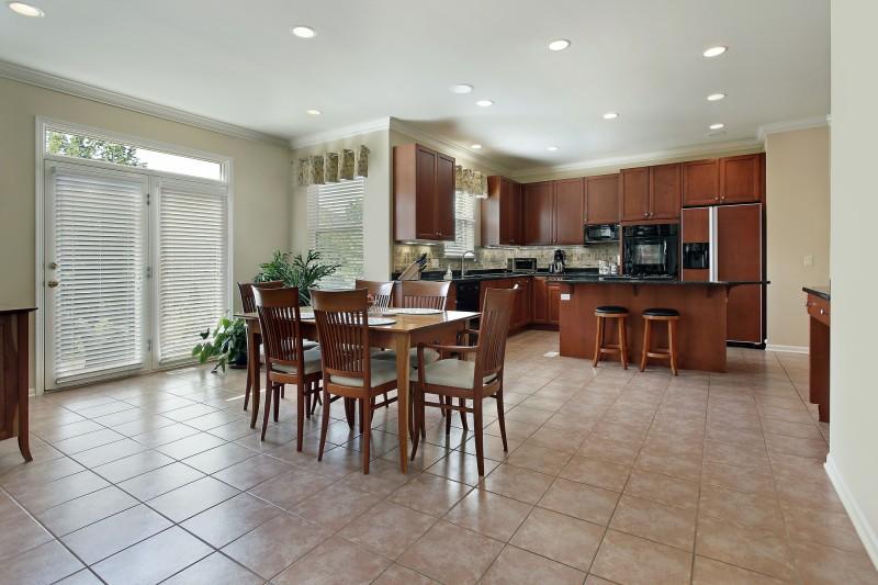 ceramic tile floor in kitchen