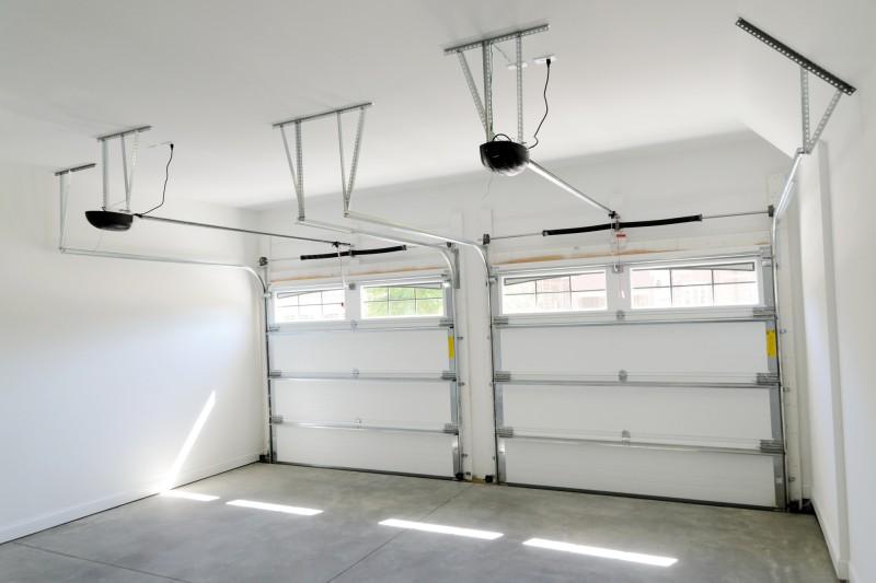 white walls painted garage