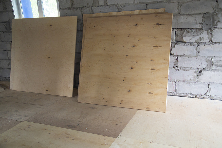 plywood panels, Plywood ,building material. Production of plywood floor. Installation of plywood