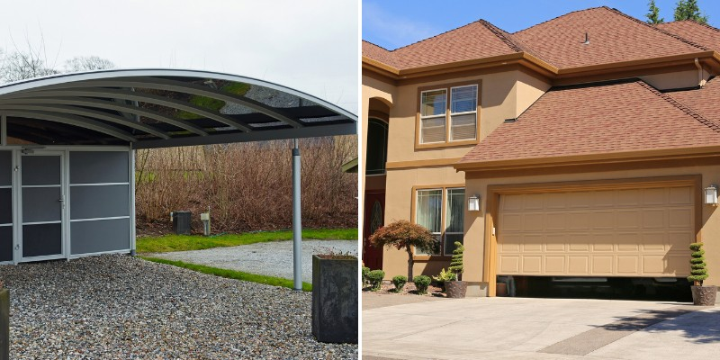 differences between garage and carports