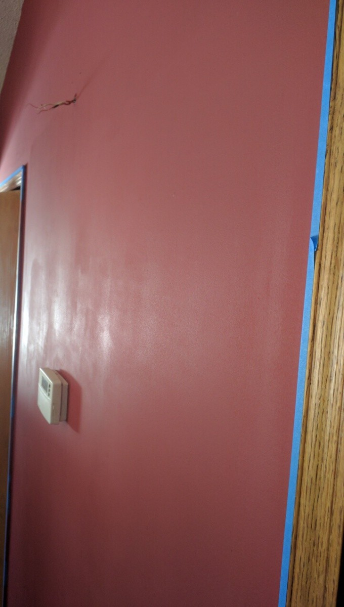 inconsistent sheen on wall