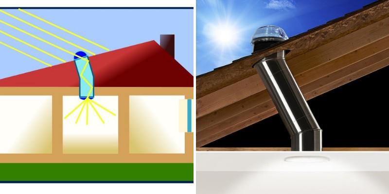 solar tube on house roof