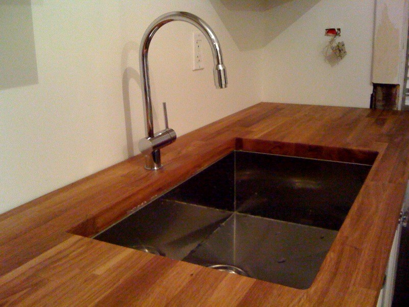 sink inside butcherblock