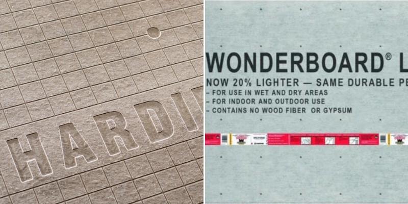 comparing wonderboard and hardiebacker