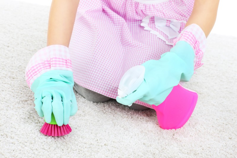 removing stains and glue from carpet