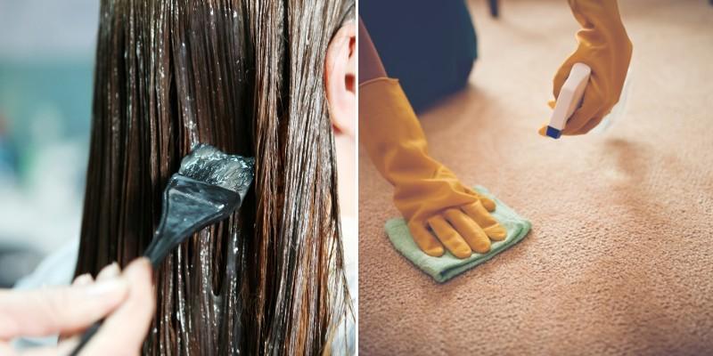 removing hair dye from carpet